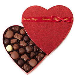 Colonial Chocolates 1 Pound Heart Box