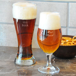 His and Hers Beer Pilsner Set