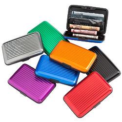 Ridged Aluminum Wallet