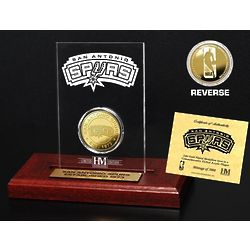 San Antonio Spurs Etched Acrylic Plaque with 24K Gold Coin