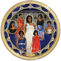 Michelle Obama Porcelain Collector Plate