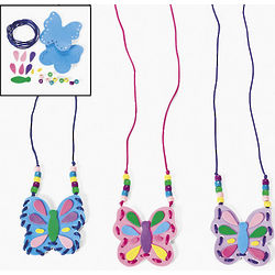 Butterfly Pouch Necklace Craft Kit