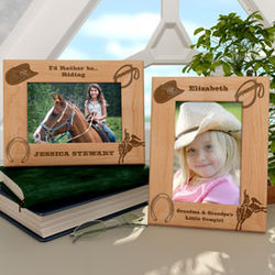 Personalized Western Cowboy Wooden Picture Frame