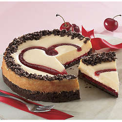 Cherry Heart Cheesecake