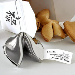 Wishes of Prosperity Silver Fortune Cookie