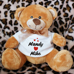 I Love You Personalized Valentine Plush Teddy Bear