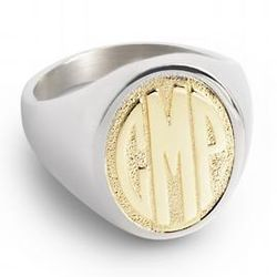 14k Gold Over Silver Women's Monogram Ring