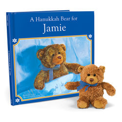Personalized Hanukkah Book and Bear Set