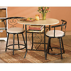 Bistro Table with Swivel Chairs