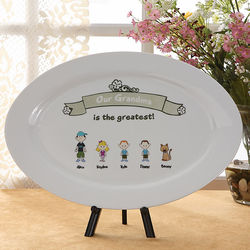 Greatest Grandma Personalized Platter