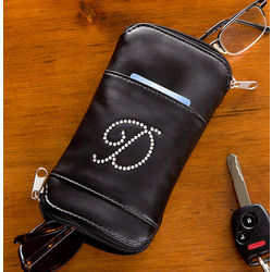 Personalized Leather Glasses and Sunglasses Case