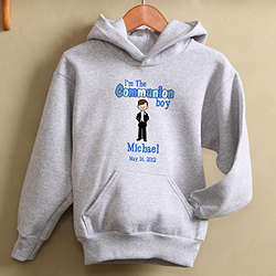 Personalized First Communion Boy's Sweatshirt