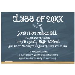 Custom Chalkboard Graduation Announcements