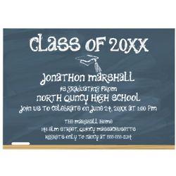 Custom Chalkboard Graduation Announcements