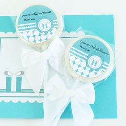Personalized Something Blue Lollipop Favors