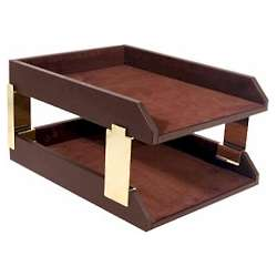 Executive Leather Desk Tray