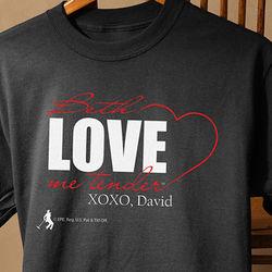 Personalized Love Me Tender Elvis T-Shirt