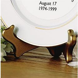 Collector's Plate Gold Tone Easel