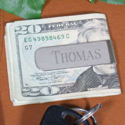 Personalized Silver Money Clip