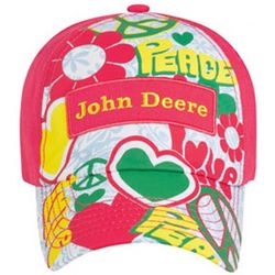 John Deere Youth Girls Love and Peace Cap