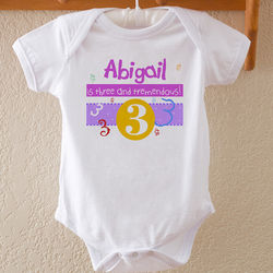 Personalized What's Your Number Baby Bodysuit