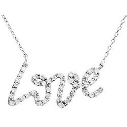 Tiffany Inspired Love CZ Necklace