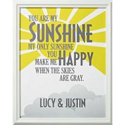 Personalized You Are My Sunshine Print