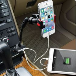 Dual iPhone Charging Car Mount