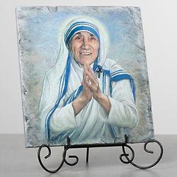 Saint Teresa Calcutta Tile Art Plaque