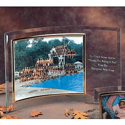 "Horizontal Bent 5 x 7"" Crystal Picture Frame"