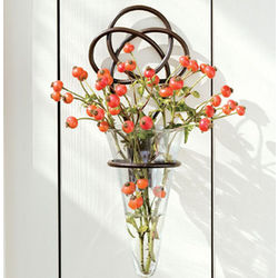 Iron Knot Wall Vase with Glass