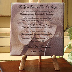 As You Leave Photo Sentiments Canvas Art