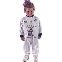 Personalized Girl Caddy Fleece Romper