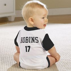 Personalized Infant Romper Sports Jersey