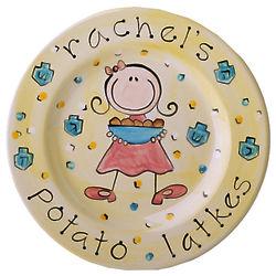 Personalized Girl Hanukkah Plate