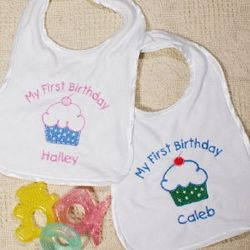 Personalized My First Birthday Baby Bib