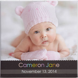 Personalized Little Memories 12x12 Baby Photo Canvas Art