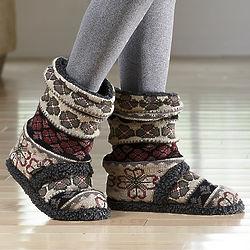 MukLuks Fair Isle Scrunch Boots