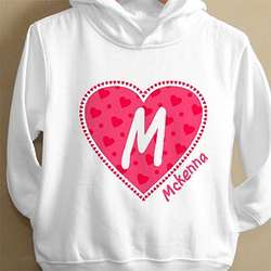 Personalized All My Heart Hooded Sweatshirt for Toddler