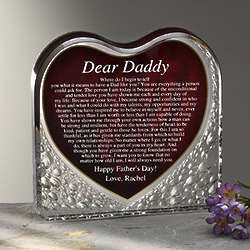 Dear Dad Personalized Sculpture