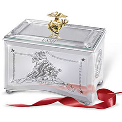US Marines Reflections of a Hero Music Box