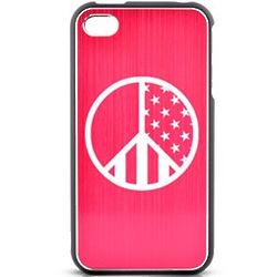 iPhone 4/4s Patriotic Peace Sign Hard Shield Case