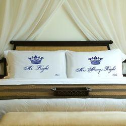 Couple's Personalized Royal Correctness Pillow Case Set