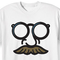 Big 'Stache with Glasses T-Shirt