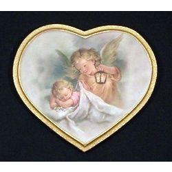 Baby's Guardian Angel Heart Plaque