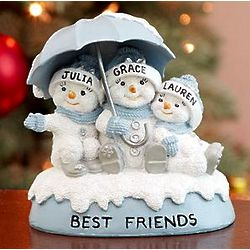 Personalized Snow Buddies Best Friends Figurine