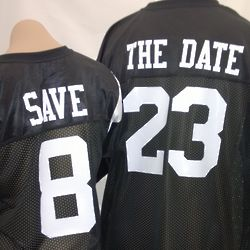 Custom Save The Date Football Jerseys