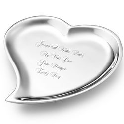 Mariposa Recycled Aluminum Heart Jewelry Tray