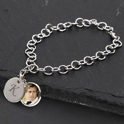 Personalized Locket Charm Bracelet