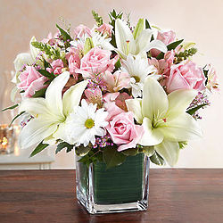 Healing Tears Large Bouquet in Pink and White